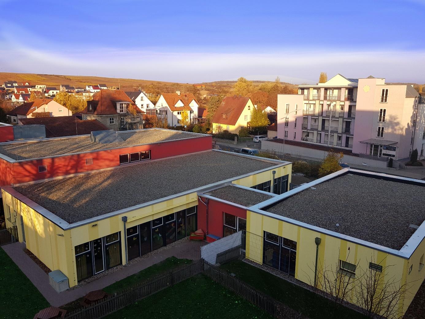 Luftbild Kindergarten Volkach